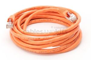 CAT6 Shielded Ethernet Patch Cable, Snagless, 10 Foot, Orange