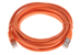 CAT6 Shielded Ethernet Patch Cable, Booted, 10ft, Orange
