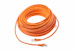 CAT6 Shielded Ethernet Patch Cable, Snagless, 75 Foot, Orange