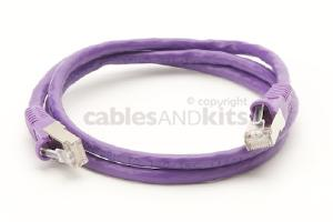 CAT6 Shielded Ethernet Patch Cable, Snagless, 3 Foot, Purple