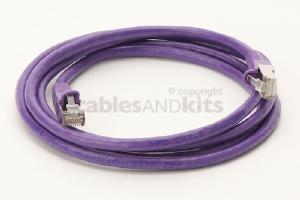 CAT6 Shielded Ethernet Patch Cable, Snagless, 6 Foot, Purple