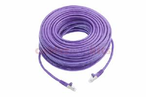 CAT6 Shielded Ethernet Patch Cable, Snagless, 100 Foot, Purple