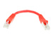 CAT6 Shielded Ethernet Patch Cable, Snagless, 0.5 Foot, Red
