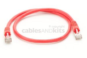CAT6 Shielded Ethernet Patch Cable, Snagless, 2 Foot, Red