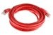 CAT6 Shielded Ethernet Patch Cable, Booted, 10ft, Red