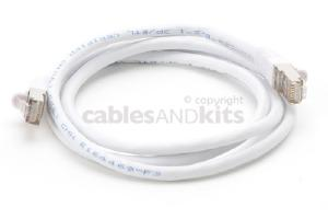 CAT6 Shielded Ethernet Patch Cable, Snagless, 4 Foot, White