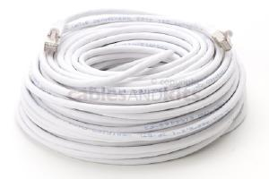 CAT6 Shielded Ethernet Patch Cable, Snagless, 100 Foot, White