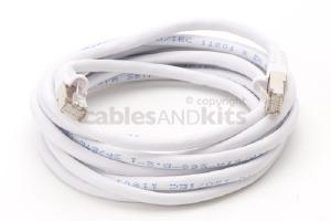 CAT6 Shielded Ethernet Patch Cable, Snagless, 10 Foot, White