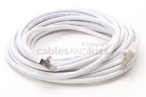 CAT6 Shielded Ethernet Patch Cable, Snagless, 25 Foot, White