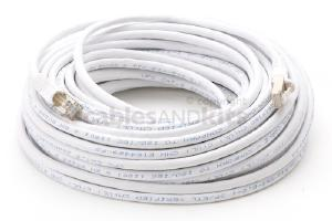CAT6 Shielded Ethernet Patch Cable, Snagless, 75 Foot, White