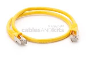 CAT6 Shielded Ethernet Patch Cable, Snagless, 2 Foot, Yellow