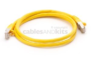 CAT6 Shielded Ethernet Patch Cable, Snagless, 3 Foot, Yellow