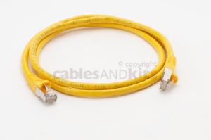 CAT6 Shielded Ethernet Patch Cable, Snagless, 4 Foot, Yellow