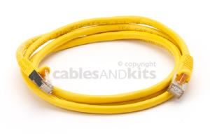 CAT6 Shielded Ethernet Patch Cable, Snagless, 5 Foot, Yellow