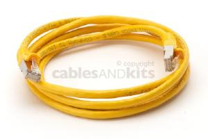 CAT6 Shielded Ethernet Patch Cable, Snagless, 6 Foot, Yellow