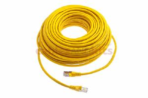CAT6 Shielded Ethernet Patch Cable, Snagless, 100 Foot, Yellow