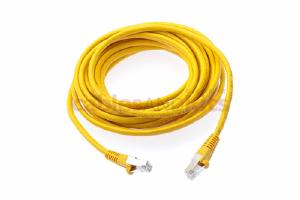 CAT6 Shielded Ethernet Patch Cable, Snagless, 20 Foot, Yellow