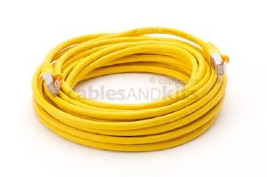 CAT6 Shielded Ethernet Patch Cable, Snagless, 25 Foot, Yellow