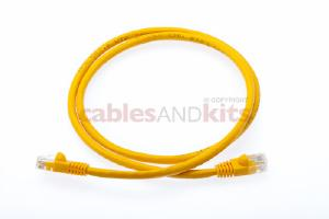CAT6 Ethernet Patch Cable, Snagless, 3', Yellow