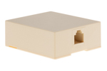RJ11 Single Port Surface Mount Jack Ivory