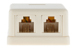 RJ11 Double Port Surface Mount Jack Ivory