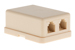 RJ12 Double Port Surface Mount Jack Ivory