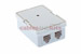 RJ12 Double Port Surface Mount Jack White