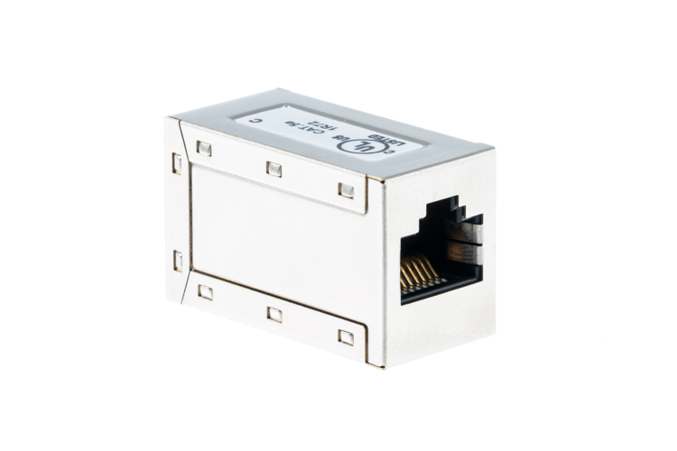 RJ45 CAT5e Shielded Inline Coupler to Connect Ethernet Cables
