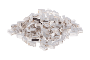 RJ45 Cat6 Modular Plugs/Connectors for STP Stranded Wire (100)