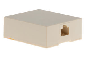 RJ45 Single Port Cat5e Surface Mount Jack Ivory