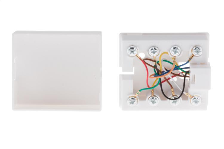 surface mount rj45 modular single port cat5e white