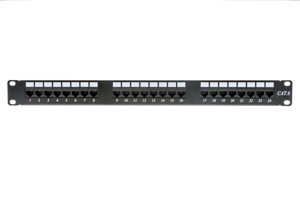 24 Port Cat6 Enhanced 1RU Rack Mount Patch Panel