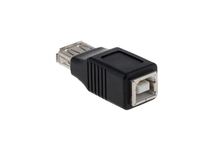 USB A Female to USB B Female Adapter