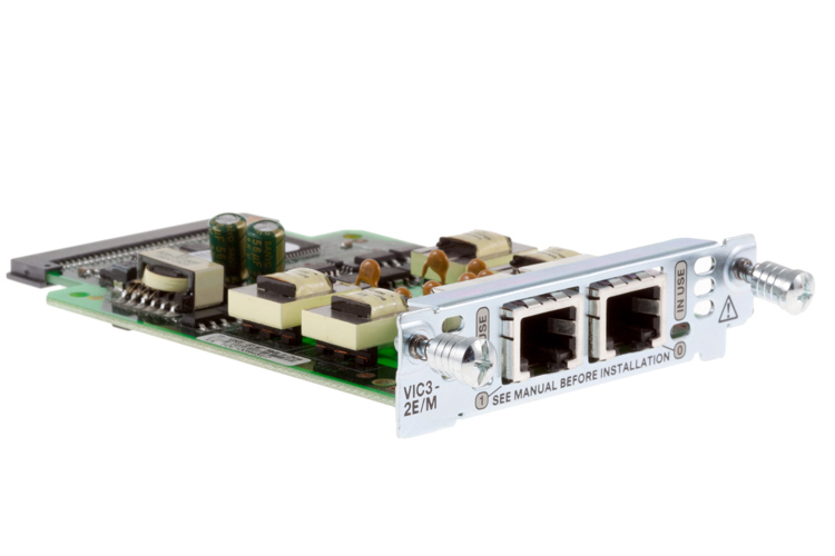 Cisco 2-Port E&M Voice and Fax Interface Card, VIC3-2E/M