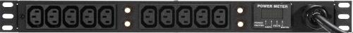 """19"""" 1RU Geist Rackmount Power Strip with (10) C13 Outlets"""