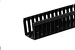 6' Cable Management End Mount Channel, Black