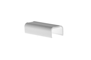 Cable Raceway Joint Cover, White, 0.75""