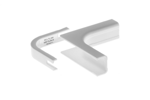 Cable Raceway Inside Corner Fit, White, 0.75""