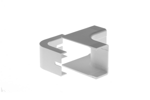 Cable Raceway Inside Corner Fit, White, 1.75""