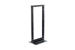 "24U (4') 19"" Two Post Equipment Rack, Aluminum, Black Finish"