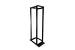 """19"""" 4 Post Open Frame Rack, Adjustable Depth, Black"""