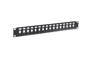 1RU 16-Port Blank BNC Rack Mount Panel