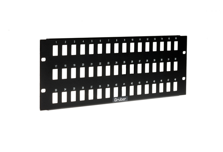 Gruber 48 Port Keystone Panel