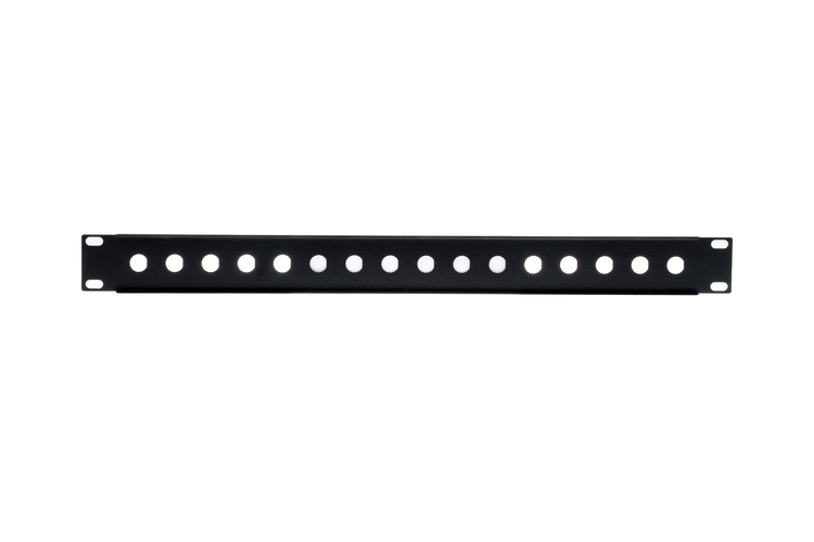 1RU 16-Port Blank BNC Rack Mount Panel