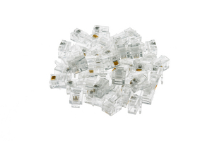 Modular Phone Plugs/Connectors for Solid Wire, 6P4C, Qty 50