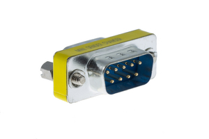 DB9 Male to Male Slim Serial Coupler