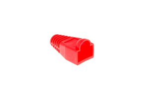 Ethernet Cable Boots - Red, Qty 10
