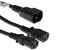 """AC Power Cord, C14 to C13 (x2) Splitter Cable, 18 AWG, 14"""""""