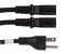 AC Power Cord, 5-15P to C13 (x2) Splitter Cable, 10'