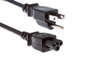 AC Power Cord, 5-15P to C5, 18 AWG, 4'11""